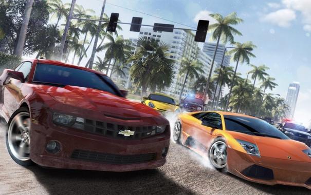 Фото обои машины, гонка, Lamborghini, арт, Porche, Chevrolet Camaro, Ubisoft Reflections