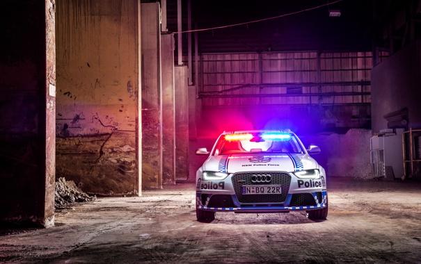 Фото обои Audi, ауди, полиция, Police, RS 4, Avant, 2015