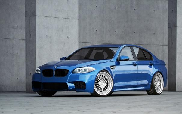 Фото обои синий, bmw, бмв, тень, wheels, диски, вид сбоку