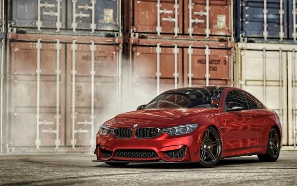Фото обои красный, BMW, BMW M4, Forza Motorsport 6