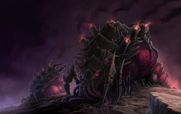 Фото обои гусеница, starcraft, samwise, Zerg Infestor