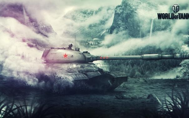 Фото обои СССР, FuriousGFX, ИС-8, Art, World of Tanks, Wargaming Net, Games