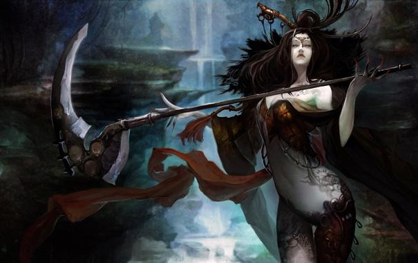Фото обои Ведьма, Коса, Sura Online