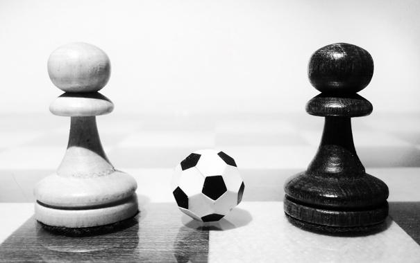 Фото обои макро, мяч, пешки