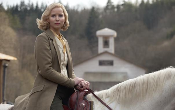 обои лошадь блондинка Jennifer Lawrence дженнифер лоуренс