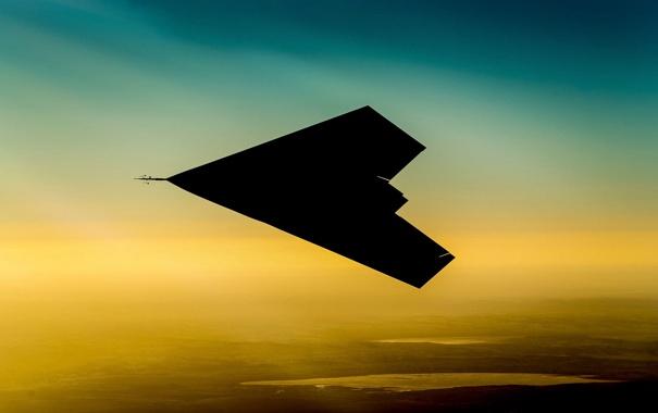 """Фото обои силуэт, боевой, беспилотный, аппарат, летательный, BAE Systems, """"Taranis"""""""