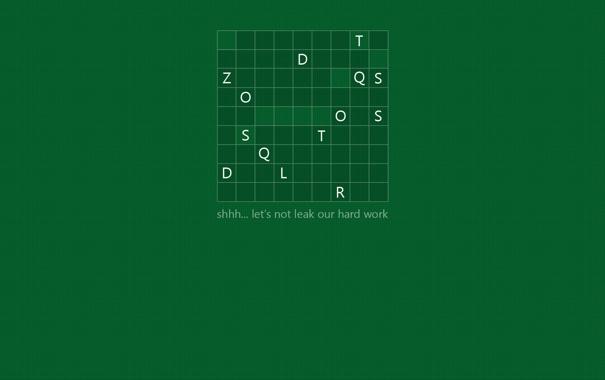 Фото обои буквы, зеленый фон, windows 8, кроссворд