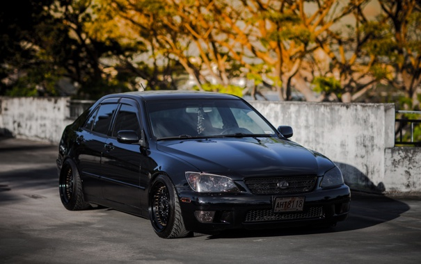 Фото обои черный, is200, black, лексус, Lexus