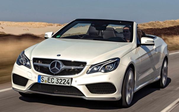 Фото обои белый, Mercedes-Benz, мерседес, AMG, передок, Cabrio, Sports Package