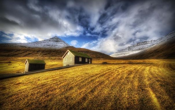 Фото обои пейзаж, Sunrise, Faroe Island