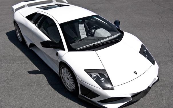 Фото обои машина, ламбо, белая