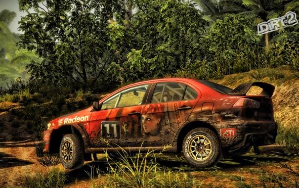 Фото обои гонка, грязь, джунгли, dirt2