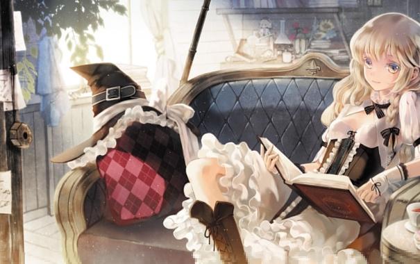 Фото обои девушка, игры, аниме, арт, touhou, kirisame marisa, upscale