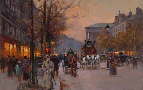 Картинки живопись осень париж на рабочий стол