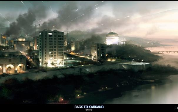 Фото обои игра, game, Battlefield 3, back to karkand