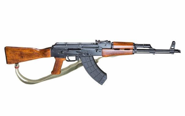 Фото обои оружие, фон, автомат, Калашникова, AKM