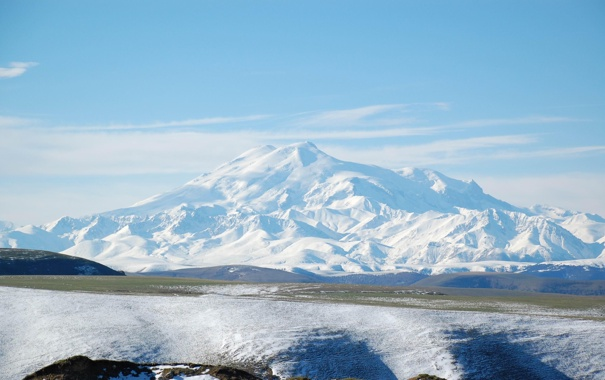 Фото обои свобода, снег, чистота, гора, весна, mountain, двуглавый