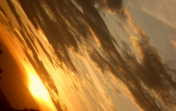 Фото обои облака, закат, Небо