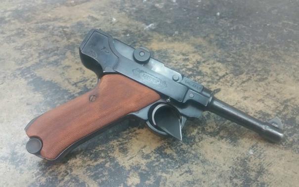 Фото обои пистолет, P08, Luger, оружие