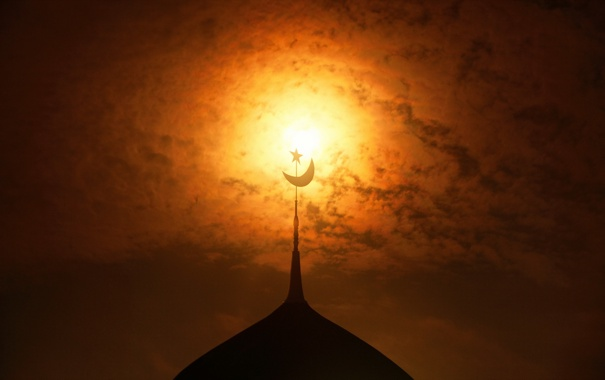 Фото обои небо, ночь, храм