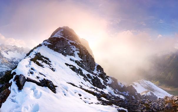 Фото обои Falschkogel, Панорама, горы, снег, Austria, Tyrol