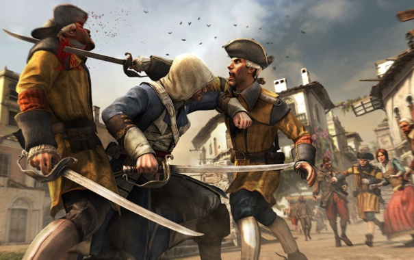 Фото обои пират, ассасин, Эдвард Кенуэй, Assassin's Creed IV: Black Flag