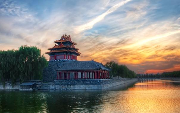 Фото обои вода, дом, Китай
