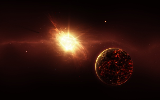 Фото обои genesis, свет, пространство, энергия, планеты