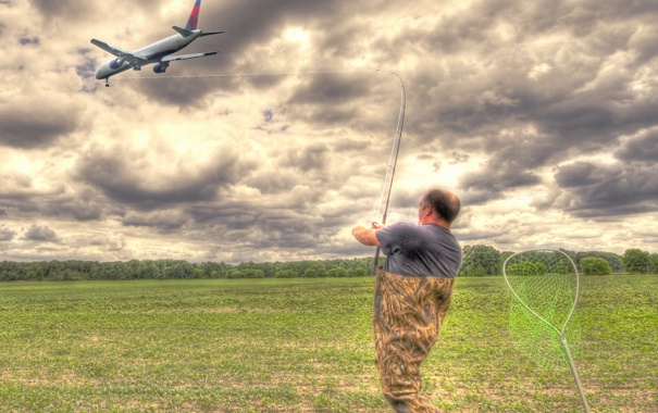 Фото обои fishing, digital manipulation, Fly fishing