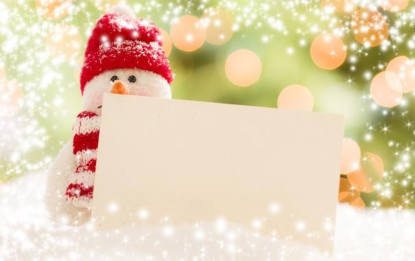 Фото обои новый год, рождество, snowman