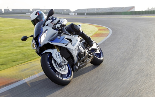 Фото обои поворот, BMW, вираж, БМВ, мотоцикл, байк, мотоциклист