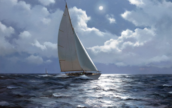 Фото обои море, яхта, James Brereton