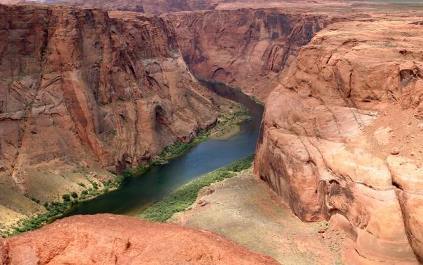 Фото обои пейзаж, горы, река, обои, каньон, Colorado