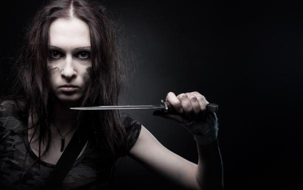 Фото обои девушка, портрет, нож, Valeria, милитари, The Ultimate Soldier 5, Igor Ivanov