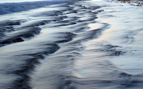 Фото обои море, прибой, высокая выдержка