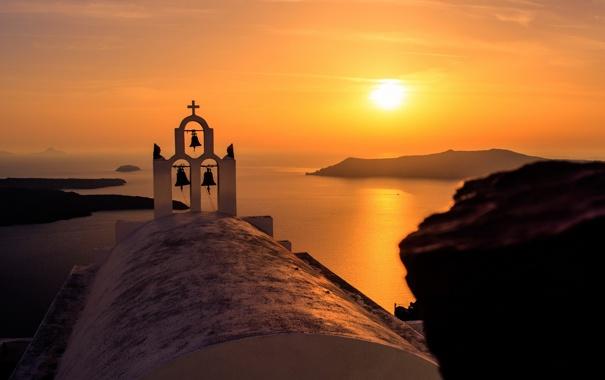 Фото обои море, закат, Oia, Greece, Notio Aigaio
