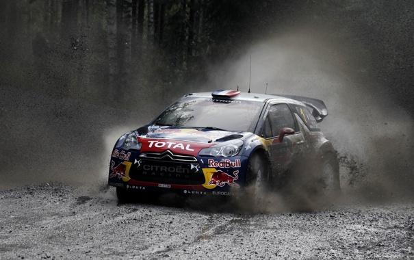Фото обои Гонка, Ситроен, Грязь, Citroen, Брызги, DS3, WRC