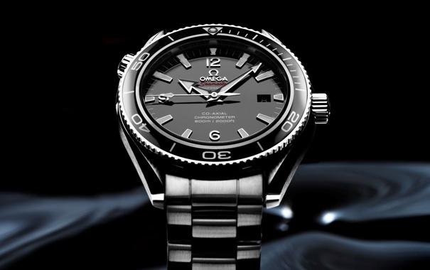 Фото обои часы, Omega, black