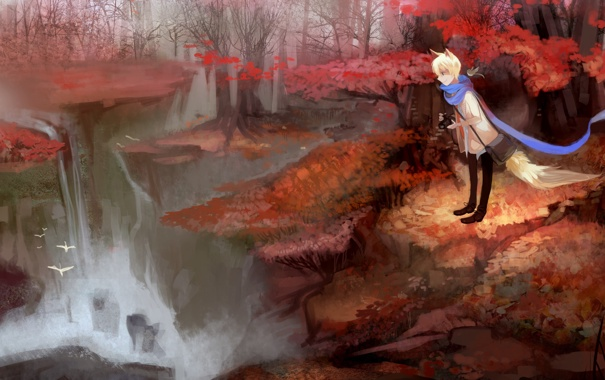 Девушка лиса картинки аниме
