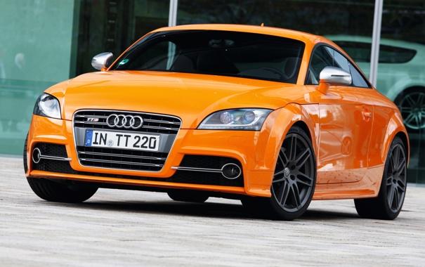 Фото обои Audi, фары, автомобиль, Coupe, передок, Audi TTS
