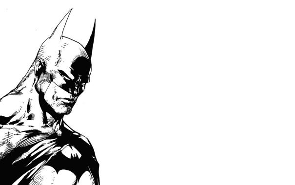 Фото обои Бэтмен, черно-белое, Batman, комиксы, супергерой