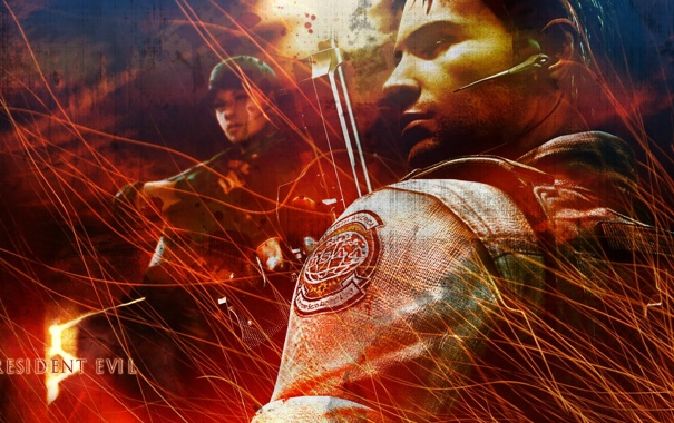 Фото обои Resident Evil, Jill Valentine, Chris Redfield, Resident Evil 5, Biohazard 5