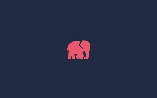 Фото обои фон, слон, минимализм