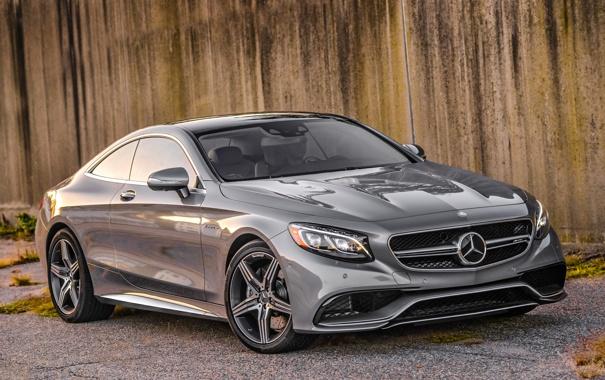 Фото обои Mercedes-Benz, AMG, Coupe, амг, S-Class, 2015, C217