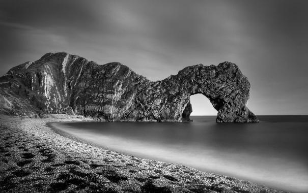 Фото обои море, вода, скала, камни, скалы, берег, пейзажи