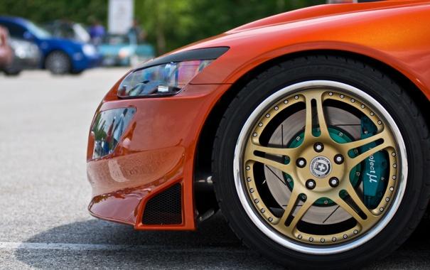 Фото обои колесо, тачки, honda, cars, хонда, auto wallpapers, авто обои