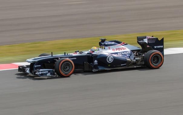 Фото обои Silverstone, Pastor Maldonado