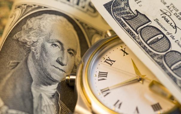 Фото обои green, Dollar, clock, Franklin