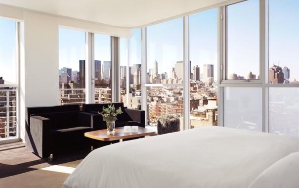 Фото обои дизайн, стиль, комната, интерьер, мегаполис, спальня