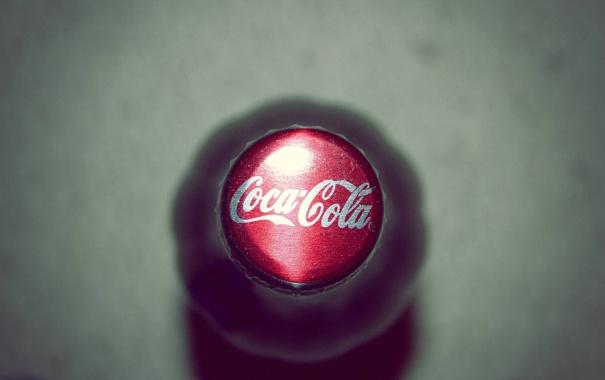 Фото обои макро, бутылка, пробка, кока-кола, Coca-cola